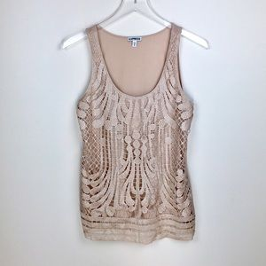 Express Lace Overlay Tank Top